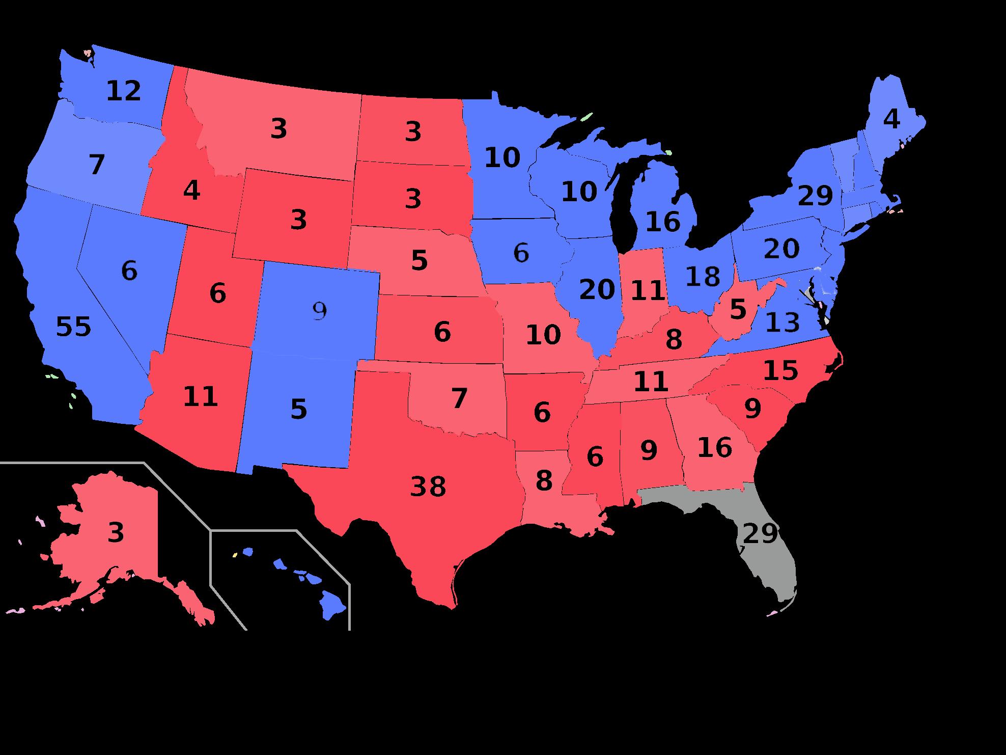 Total Votes In Electoral College Electoral Map